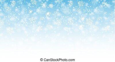 flocken, hintergrund, schnee, seamless