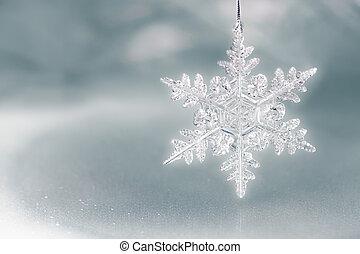 floco, feriado, neve, fundo