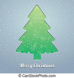 flocon de neige, arbre, neige, étoiles, noël