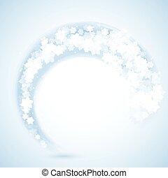 flocon de neige, fond, 1909