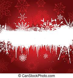 flocon de neige, fond, glaçon