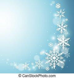 flocon de neige, fond, hiver