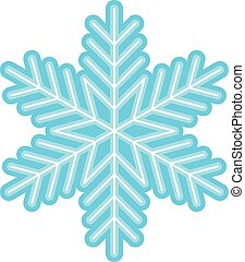 flocon de neige, froid, vecteur, hiver, icône