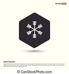 flocon de neige, hiver, icône