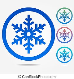 flocon de neige, icône