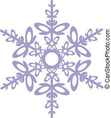 flocon de neige, isolé, 03