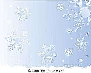 flocon de neige, noël, fond