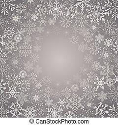 flocon de neige, résumé, vecteur, fond, illustration