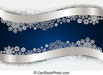flocon de neige, vecteur, illustration., fond, noël