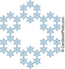 flocon, snowflake., neige