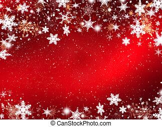 flocons neige, étoiles