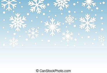 flocons neige, arrière-plan., hiver