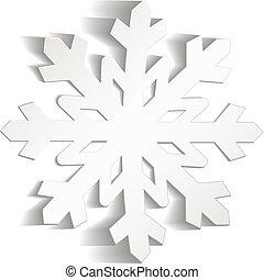 flocons neige, coupure, depuis, papier