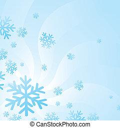 flocons, neige, fond