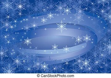flocons neige, fond, (vector)