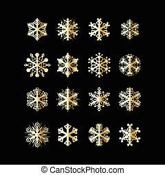 flocons neige, icônes