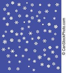 flocons neige, illustration