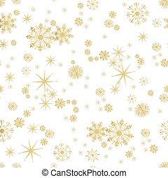 flocons neige, modèle, seamless, vecteur, fond, hiver