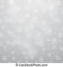 flocons neige, noël, fond