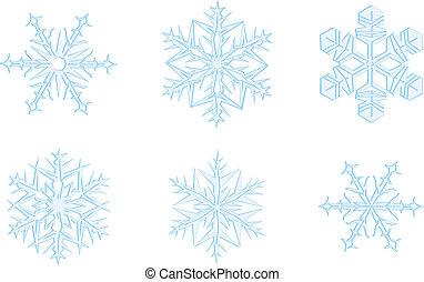 flocons neige, orné