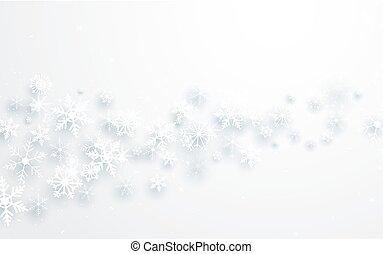 flocons neige, résumé, fond, year., joyeux, nouveau, noël, heureux