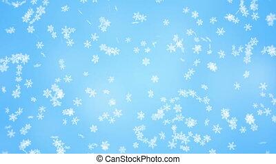 flocons neige, seamless, fond, tomber, noël, boucle