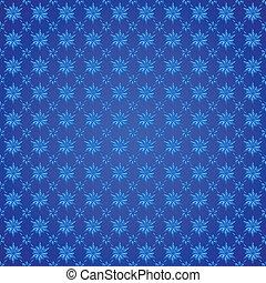 flocons neige, sur, arrière-plan bleu