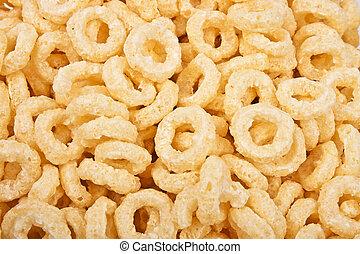 flocos de milho, textura, fundo