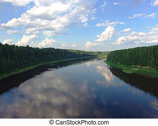 flod, 4, land