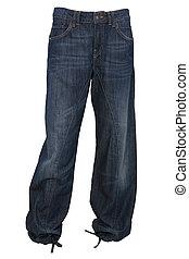 flodderige jeans, broek