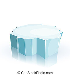 Floe isolated on a white background. Winter. Vector illustration