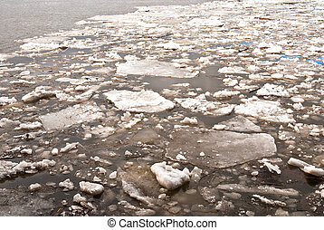 floes on the river