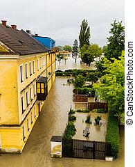 flood 2013 linz, austria
