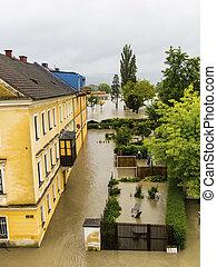 flood 2013, linz, austria