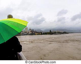 flood, 2013, linz, austria