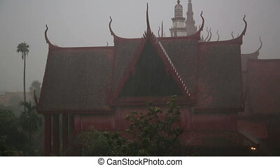 """Flood after Monsoon Season Rain in Phnom Penh, Cambodia"""