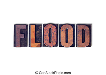 Flood Concept Isolated Letterpress Word