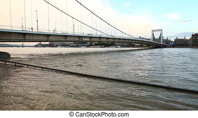 Flood on the river Danube