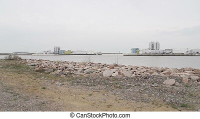 flood prevention barrier. The Gulf of Finland - flood...