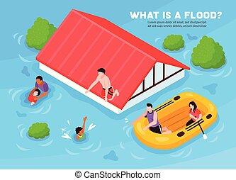 Flood Vector Illustration
