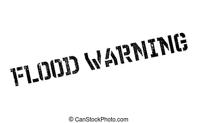 Flood Warning rubber stamp