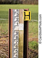 Flood Water Level Measurement Gauge