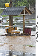 Flooded Bus Stop