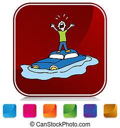 Flooded Car Button Set