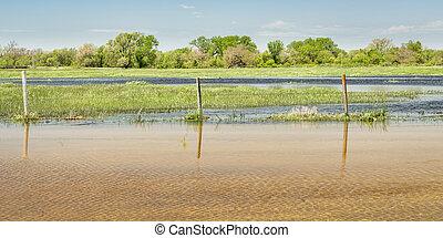 Flooded fields in Nebraska