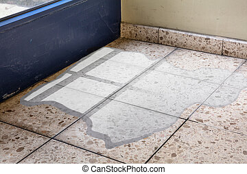 Flooded Floor From Water Leakage