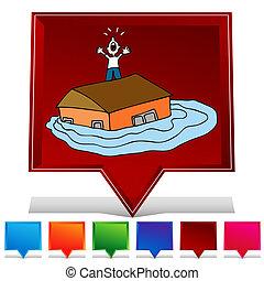 Flooded House Gemstone Button Set