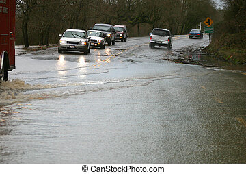 Flooded Road - One of a series on the Northern California...