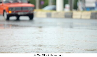 Flooded sity Road