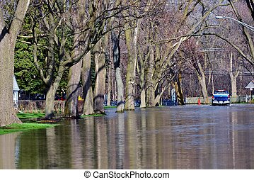 Flooded Streets - Natural Disaster in American State of...